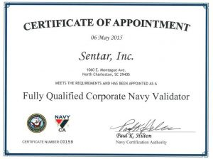Fully Qualified Navy Validator Certificate